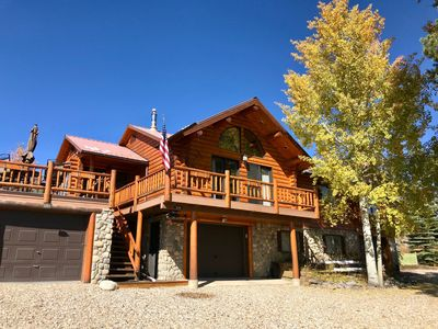 Photo for Spacious, immaculate home with lake and mountain views!  Deck, garage. Sleeps 9.