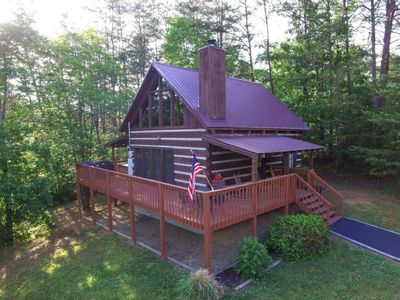 Photo for Secluded Smoky Mountain Dream Cabin~Hot Tub & Close to Parkway! PF/Gatlinburg