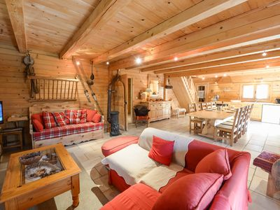 Photo for pretty chalet, fully equipped, sauna, 5 bedrooms, very spacious, garden,