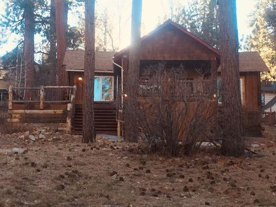 Photo for Updated vintage Cabin with a lake view! Walk to the village or the lake!