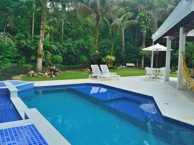 Photo for COND. COSTA DEL SOL 180m FROM THE BEACH OF GUARATUBA, RAINFOREST 3 SUITES AIR COND. WIFI