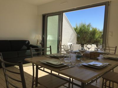 Photo for Ground floor apartment with direct access to La Turballe beach