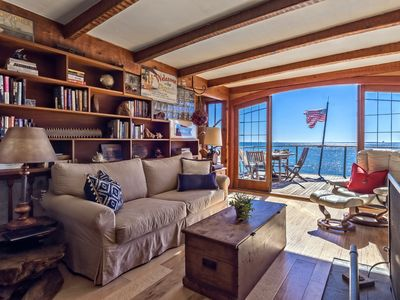 Photo for Boat House - On semi-private beach, built like a custom sailing vessel complete with fireplace!