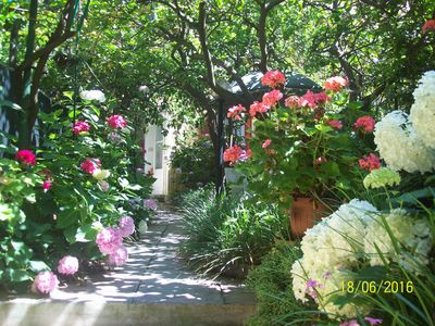 Photo for In historical centre of Monterosso, a romantic house with garden