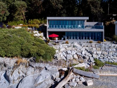 Photo for Designer's Luxury Sechelt Beach House  -  romantic,  hot tub, walk into town