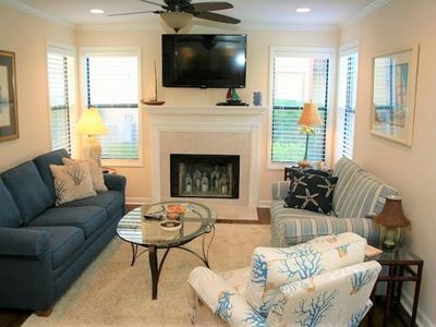 Photo for Ground Level End Unit; 3BR/2BA; Gated; Stroll to Beach or Village
