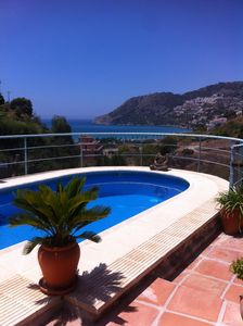 Photo for Stunning Villa w/Private Pool, Lovely Secluded Garden, Sea Views Over The Bay