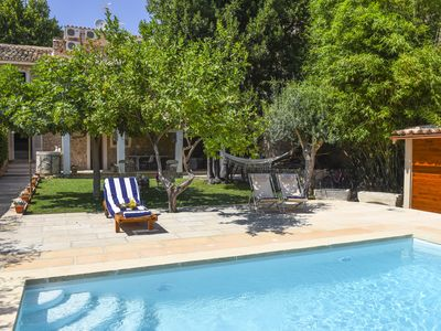 Photo for PINTOR- Typical Majorcian town house with an inviting pool in center of Caimari