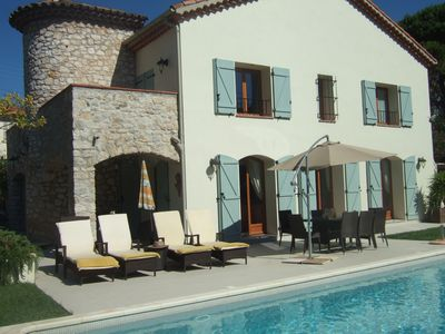 Photo for BEAUTIFUL FAMILY VILLA WITH PRIVATE SUNNY SWIMMING POOL, 50m FROM SANDY BEACH