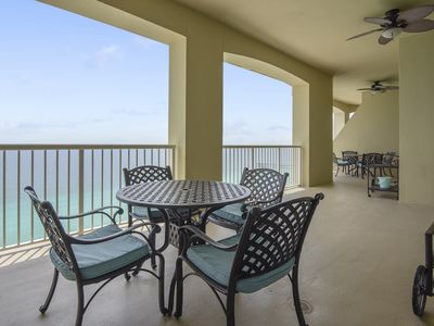 Photo for NEWLY RENOVATED PENTHOUSE CONDO IN PCB W/ ENDLESS VIEWS OF THE GULF!!