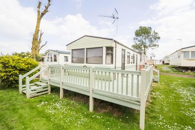 Static home with decking in Norfolk