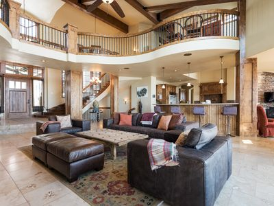 Photo for Ski-in ski-out villa with theater, pool table, hot tub, fitness suite, outdoor fire pit and bar
