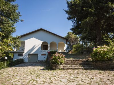Photo for Villa in a hilly and quiet area behind the Cinque Terre, a large green area.