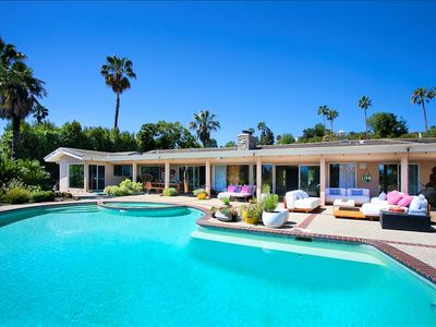 Photo for Beautiful Hollywood Mid-century Home With Giant Pool and Cute Hottub and Patio