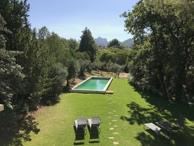 Photo for holiday vacation large villa rental france, provence, st. remy, pool, air conditioning, wi-ri internet, walk to town, sh