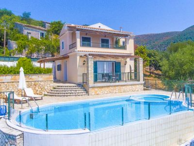 Photo for Villa Magda: Large Private Pool, Walk to Beach, Sea Views, A/C, WiFi