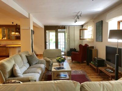 Photo for Large open space appartment, with garden and only 26 Km Madrid