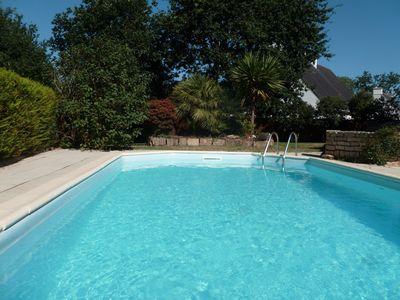 Photo for Gulf of Morbihan, beautiful bright house with pool. Countryside, river, ocean