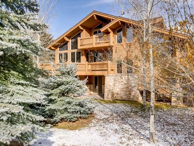 Photo for Spacious Deer Valley home w/ private hot tub & mountain views - on bus route!