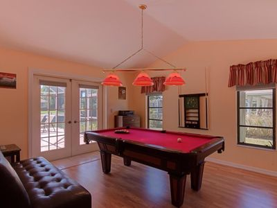 Photo for Tranquil Turtle, relaxing Oasis equipped with a heated pool, 4 Bikes and a pool table in quiet neigh