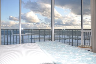 Beautiful clouds seen from the panoramic master bedroom window.