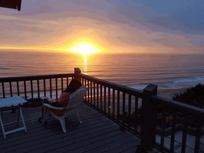 Photo for OceanFront dog friendly amazing home overlooking picturesque views of the Ocean