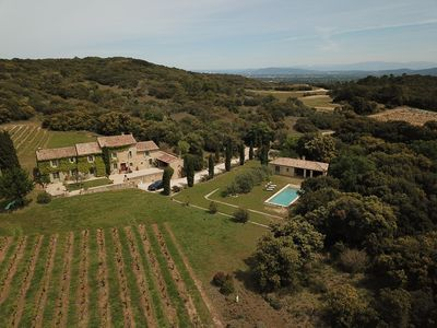 Photo for NEW 2019. Superb private Mas of 380 m2 on 4 Ha. Private pool. 10 people