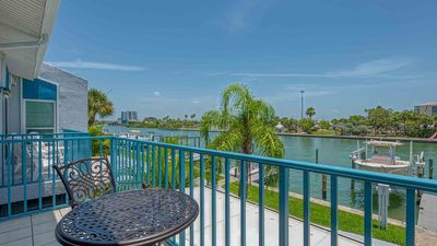 Photo for Beautifully decorated - all new interior.  Intracoastal view and steps to the beach! SPECIALS 2019!!