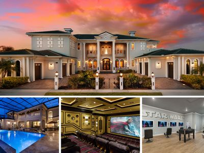 Photo for 10,000 sq ft, Huge Screened Pool with Private Views, 18 Seat Theater, Gym, Sauna