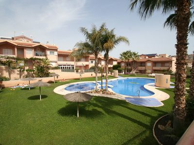 Photo for This 2-bedroom villa for up to 4 guests is located in Santa Pola and has a private swimming pool and