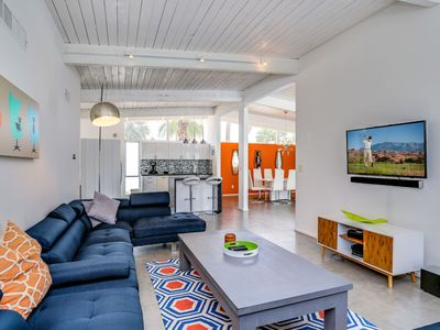 Photo for Mid-century Modern 3BR w/ Private Pool & Mountain Views - Minutes to Downtown