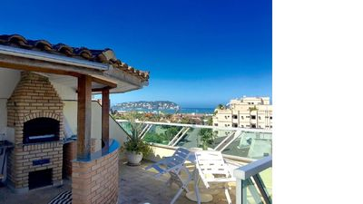 Photo for COVERAGE WITH SWIMMING POOL, BARBECUE AND SEA VIEW !!