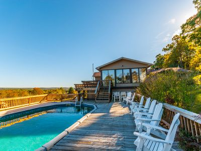 Photo for HUGE 9 bedroom home with amazing panoramic mountain views, pool & hot tub!