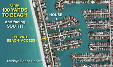 Canal/Waterfront House/SOUTH FACING, PRIVATE BEACH ACCESS, 100 Yards,  REMODELED
