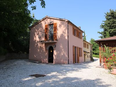 Photo for Farmhouse with swimming pool, beautiful views, among vineyards and olive groves