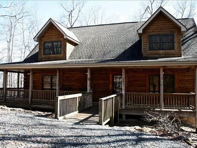"Photo for Connestee Falls ""Antlers Ridge"" 4/3 Gated Golf/Lake Resort Mountain Log Home"