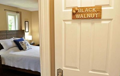 Welcome to the Black Walnut room at the end of the hall