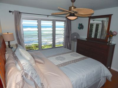 master bedroom with scenic ocean view