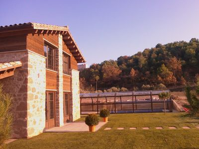 Photo for rural house with private pool, 4 bedrooms, all with bathroom, 8-12p