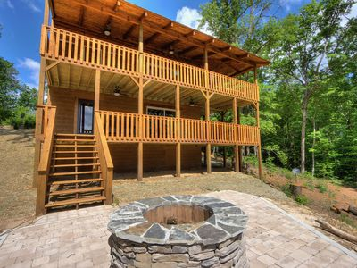 Photo for 4 BR, 3.5 Bath with Game Room, Fire Pit, Golden Tee, & Hot Tub ~ BRAND NEW! ~ Sleeps 12