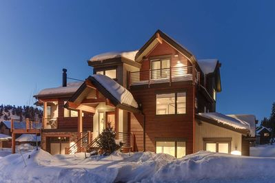 Front of home with 3 floors of patios with breath taking views