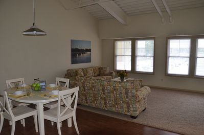 open floor plan with amazing views of the marina and lake macatawa.