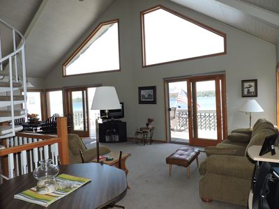 Photo for Lakefront Chalet on beautiful Lake Charlevoix