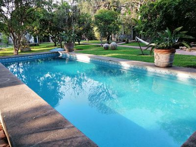 Photo for Casa Cactacea, Alberca, Jardin, Fogata, Camino a Ticuman. 10 pax