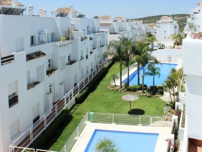 Photo for 2 bed front line golf penthouse apartment Valle Romano
