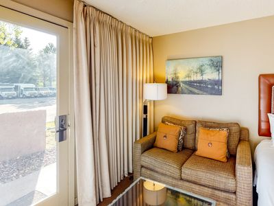 Photo for Ski-in/out hotel room w/shared gym, hot tub, outdoor pool, & airport shuttle