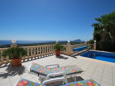 Photo for Villa with private pool, dreamlike sea- and panoramic view, Internet, dishwasher
