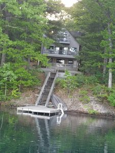 4 Bedrooms 3 Baths, on 3 levels plus 1,800 sq ft of decks on Starvation Lake