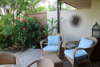 Relax on the shaded Lanai