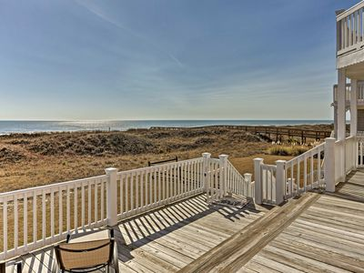 Photo for 'The Pink House' w/Views - Steps from Sunset Beach
